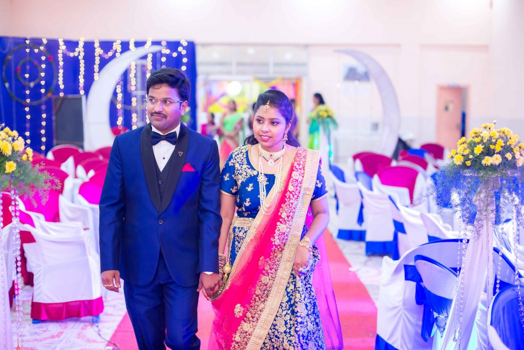 A simple reception – Lokesh with Srilakshmi